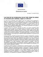 Informe: els fills dels immigrants