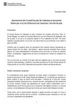 Portada de l'informe del Consell Escolar de Catalunya